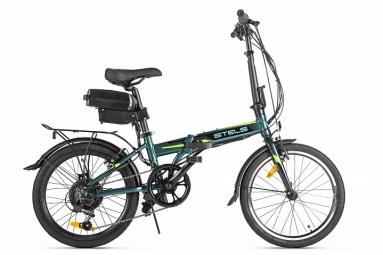 "Велогибрид Stels Pilot 630 (20"", темно-зеленый) 36V 350W"