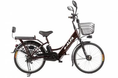 Велогибрид Eltreco e-ALFA brown
