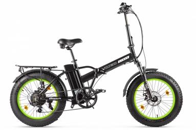 Велогибрид VOLTECO CYBER Черно-салатовый