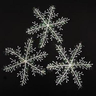 Набор из 3-х пластиковых снежинок Ø 22 см.