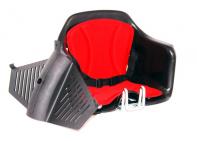 Кресло детское с креплением на руль черное с красной накладкой, 15кг, Италия (Арт.:003)