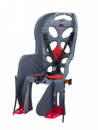Кресло детское с креплением на багажник темно-серое с красной накладкой, 22кг, Италия (Арт.:015)