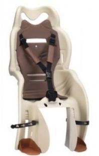 Кресло детское с креплением на багажник бежевое с коричневой накладкой, 22кг, Италия (Арт.:008)