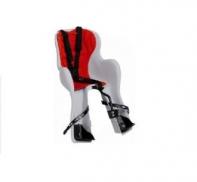 Кресло детское с креплением на багажник светло-серое с красной накладкой, 22кг, Италия (Арт.:011)