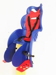 Кресло детское с креплением на багажник синие с красной накладкой, 22кг, Италия (Арт.:009)
