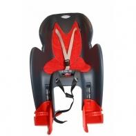 Кресло детское с креплением на багажник темно-серое с красной накладкой, 22кг, Италия (Арт.:010)