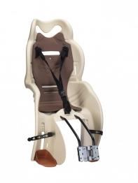 Кресло детское с креплением на раму бежевое с коричневой, 22кг, Италия (Арт.:017)
