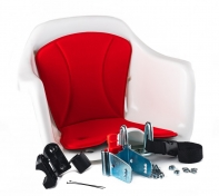 Кресло детское с креплением на руль белое с красной накладкой, 15кг, Италия (Арт.:004)
