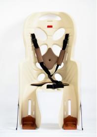 Кресло детское с креплением на багажник бежевое с коричневой накладкой, 22кг, Италия (Арт.:014)