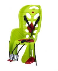Кресло детское с креплением на багажник лайм с красной накладкой, 22кг, Италия (Арт.:013)