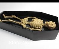 """Скелет """"Танцор Диско"""" в гробике, музыкальный 31 * 14 см."""