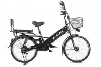 Велогибрид Eltreco e-ALFA GL matt black