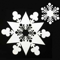 """Снежинка """"Две в одной"""" 50 см"""