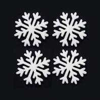 Снежинка 6 см, 4шт/уп