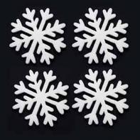 Снежинка 10 см, 4 шт/уп