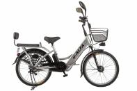 Велогибрид Eltreco e-ALFA gray