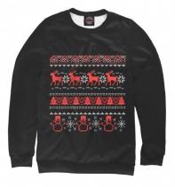 Мужской свитшот Рождественский пиксель
