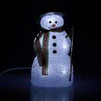 "Фигура акрил. ""Снеговик с лопатой"" 23х12см, 10 LED, 240V БЕЛЫЙ"