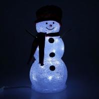 "Фигура акрил. ""Снеговик руки-палки"" 33х16 см, 28 LED, 220V БЕЛЫЙ"