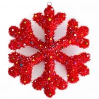 """Световая игрушка """"Снежинка"""" (коллекция """"Сланди""""), цвет: красный"""