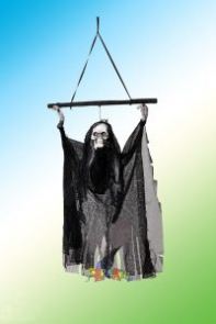 """Декорация для хеллоуина """"Череп с волосами Летящий"""""""