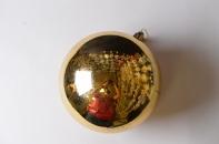 Рождественский шар 20 см золото