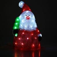 "Фигура акрил. ""Дед мороз с елкой"" 28х24х42 см, 220V, 30 LED, контроллер 8 режимов"