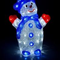 """Фигура акрил. """"Снеговик"""" 33х23х41 см, контроллер с димером, 72 LED, 220V"""