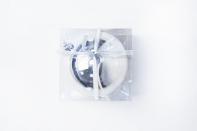 Рождественский шар 15 см, цвет серебро глянцевый