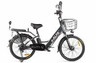 Велогибрид GREEN CITY e-ALFA new темно-серый