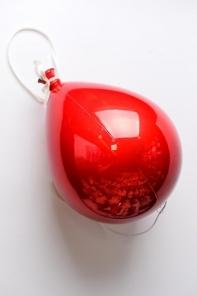 Шар 20 см (1 штука), Форма воздушного шара, Цвет красный