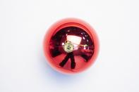 Рождественская декорация (Шар 15 см, 1 шт., цвет красный)