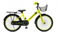 """20"""" Велосипед HOGGER """"TOCORO"""" рама:сталь/ручной и ножной тормоз, корзина, багажни, желтый"""