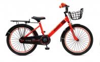 """20"""" Велосипед HOGGER """"TOCORO"""" рама:сталь/ручной и ножной тормоз/доп.колеса, корзина, багаж, красный"""
