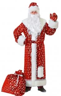 Дед Мороз плюш красный