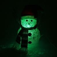 "Игрушка акрил. ""Снеговик"" (3xAA не в компл.) 20 х 35 см, 6 LED,USB, RGB, БЕЛЫЙ"