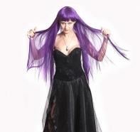 """Платье """"Ведьма"""" корсетное, черное с черной паутиной"""