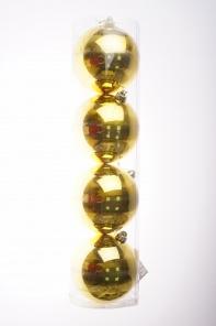 Рождественский шар 15 см, золотой набор 4 шт.