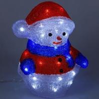 """Фигура акрил. """"Снеговик"""" 21х25х30 см, контроллер с димером, 40 LED, 220V"""