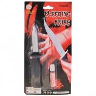 """Прикол """"Нож прятающееся лезвие с кровью"""""""