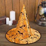 "Карнавальная шляпа ""Летучая мышь"", р-р 56-58 см, цвет оранжевый"