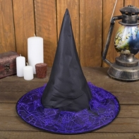 """Карнавальная шляпа """"Лохмотья"""", р-р 56-58 см, цвет фиолетовый"""