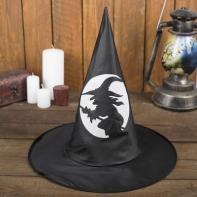 """Карнавальная шляпа """"Ведьма"""", светится в темноте, р-р 56-58 см"""