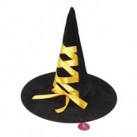 "Шляпа-конус ""Ведьмочка"" с завязками, лента цвета МИКС"