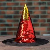 """Карнавальная шляпа """"Конус"""" с пайетками"""