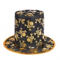 """Карнавальная шляпа """"Черепа"""", цвет золото"""