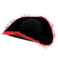 """Карнавальная шляпа """"Пиратка"""" с каймой, р-р 56-58"""