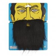 Карнавальная борода черная 27*22