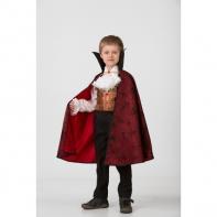 Карнавальный костюм «Дракула парадный», рубаха, плащ, текстиль, размер 32, рост 122 смКарнавальный костюм «Дракула парадный», рубаха, плащ, текстиль, размер 32, рост 122 см