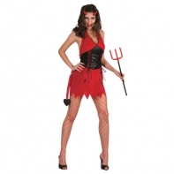 """Карнавальный костюм """"Дьяволица"""", 3 предмета: платье, хвост на липучке, рога, р-р M-L (44-48)"""